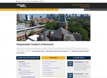 Responsible Conduct of Research - Georgia Tech University
